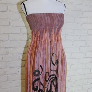 Lapis Tube Top Dress Summer Beach One Size Fit all
